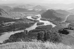 Черно-белое фото Катунь