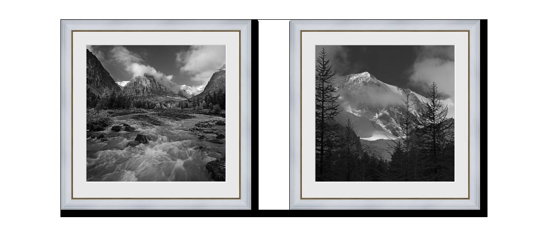 Диптих из черно-белых фотокартин