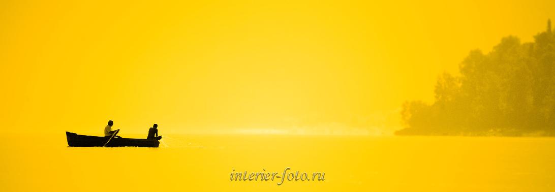 Фото лета Рассвет на озере
