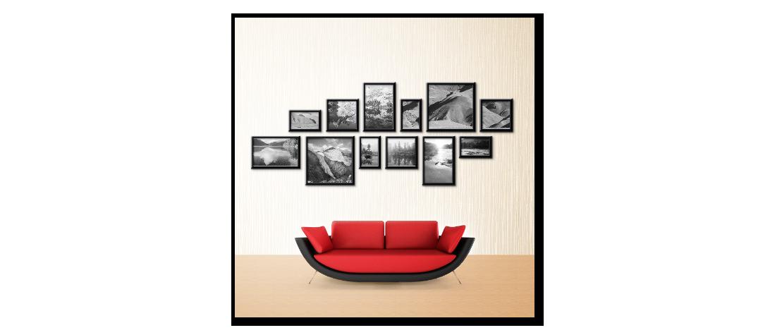 черно-белое фото в интерьере