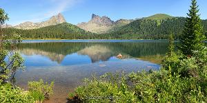 Панорамная фотография Ергаки