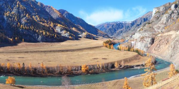 Панорама Белый бом осенью
