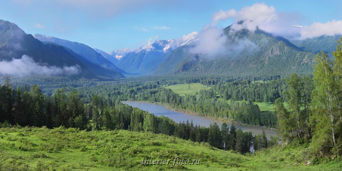 Панорамная фотография Катунь