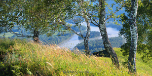 Панорамное фото Катунь Алтай