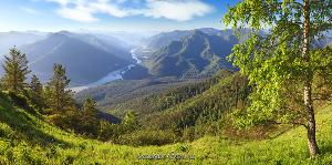 Панорама Над Катунью Алтай