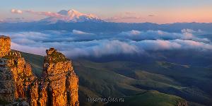 Панорама Эльбрус Кавказ
