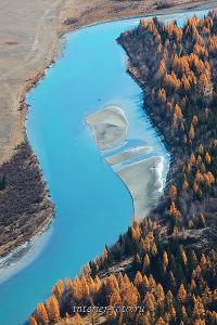 Осенняя Чуя сверху Алтай