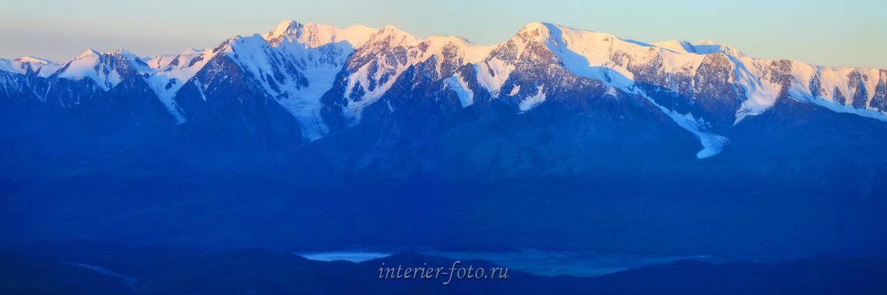 Панорамное фото Северо-Чуйский хребет с Курайского