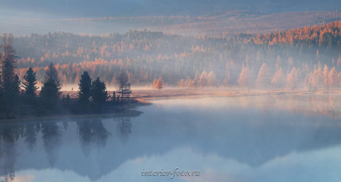 Туман и дымка Озеро