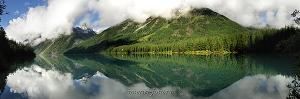 Туманное утро на Кучерлинском озере. Алтай (6074)