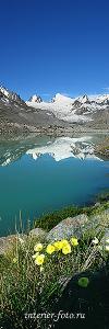 Вертикальное фото для интерьера Горное озеро