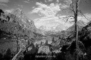 чёрно-белые фотографии для интерьера Озеро Дарашколь. Алтай (8015)