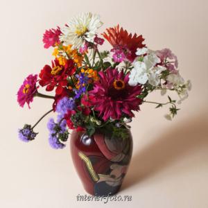 Декорация стен фото Цветы в вазе