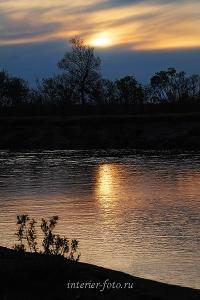 Закат на реке Песчаной - Алтай