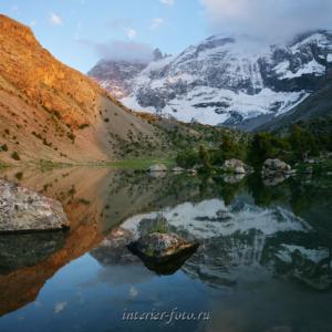 Красивое место Озеро в Фанских горах