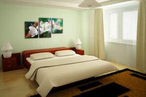модульная фотография в спальне