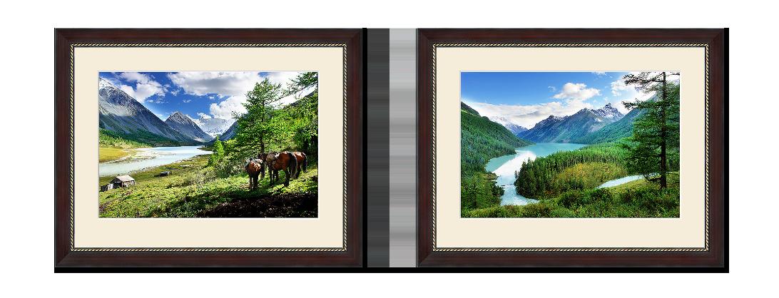 Пейзаж в интерьере диптих аккем кучерла