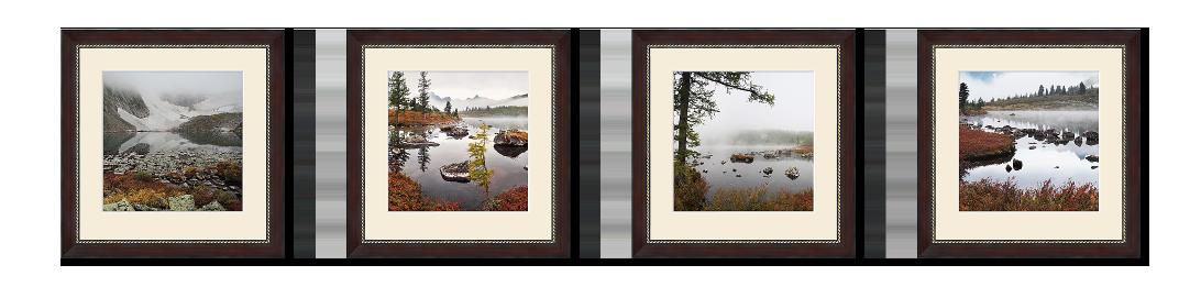 полиптих из 4 квадратных фотографий
