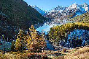 Пейзаж на стене Осень на Кучерлинском озере