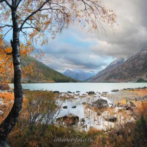 Квадратные фотографии Осень на Мультинском озере