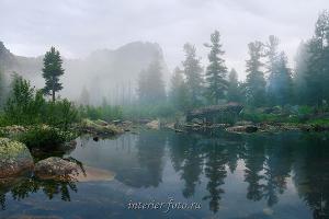 Природный пейзаж Озеро Художников - Ергаки