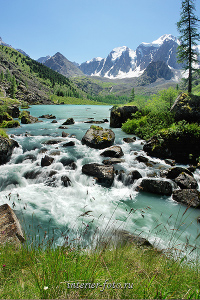 У Верхнего Шавлинского озера, Алтай
