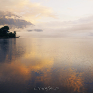 Алтай пейзаж Туманное утро на Телецком озере