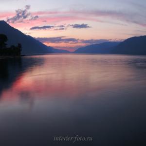 Алтай пейзаж Телецкое озеро на закате