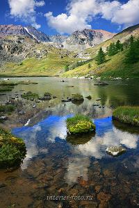 Горное озеро на Курайском хребте