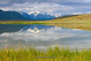 Вершины Южного Алтая на плато Укок