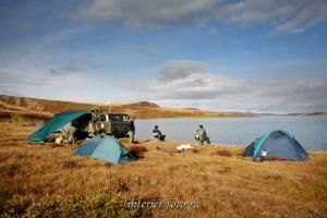 На озере Хиндикдик-Холь в Западной Туве