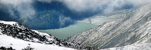 Аккемское озеро с перевала Каратюрек