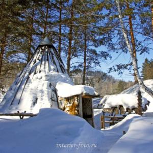 Алтайский аил зимой