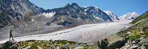 Ледник Менсу в отрогах Белухи