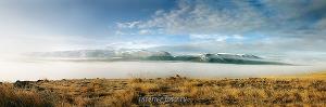 Долина реки Ак-Алаха в тумане
