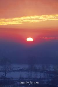 Виды пейзажа Зимний вечер на Алтае