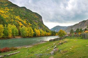Река Чуя осенью
