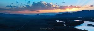 Фото Сибири Закат на Енисее в Туве
