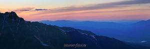 Закат на Северо-Чуйском хребте