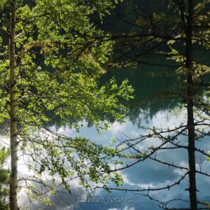 Утром на озере Ару-Кем