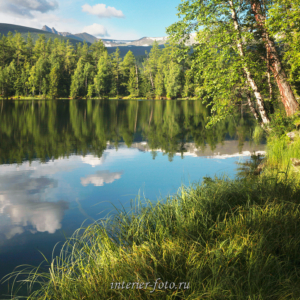 Летнее утро на озере Ару-Кем