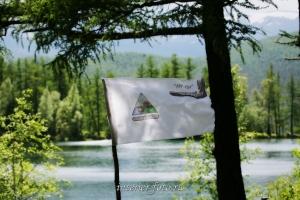 Флаг Экспедиционного центра на озере Ару-Кем