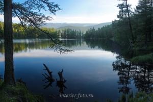 Утро на озере Ару-Кем
