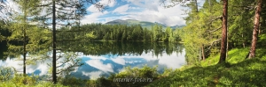 Панорама озера Ару-Кем - Уч-Энмек