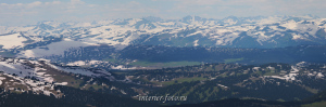 Заснеженные вершины в сторону Казахстана