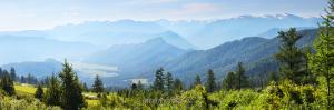 Утренний вид с Кайтанакского перевала в сторону Катунского хребта