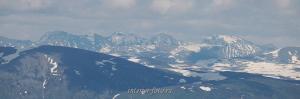 Вид на Катунский хребет с горы Красной