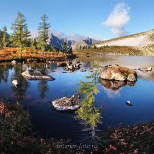 Фото для свободной стены Озеро Круглое в горах Кузнецкого Алатау