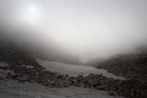 Перевал НГПИ в тумане - Кузнецкиий Алатау