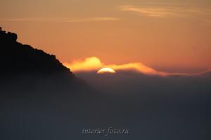 Рассвет в горах - Поднебесные Зубья